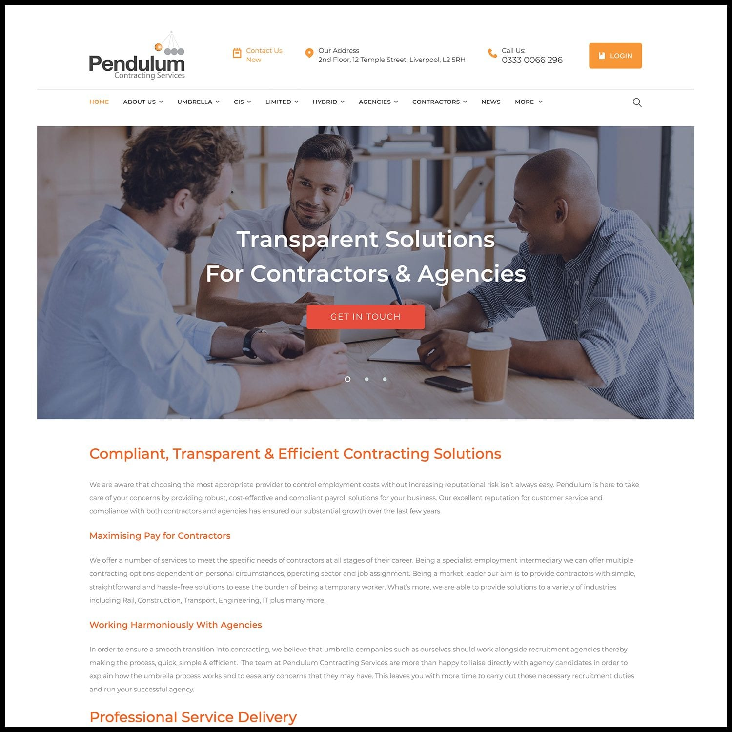 Umbrella Payroll Website