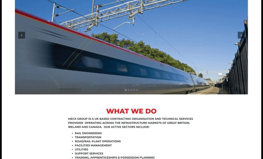 Rail Contractors Website